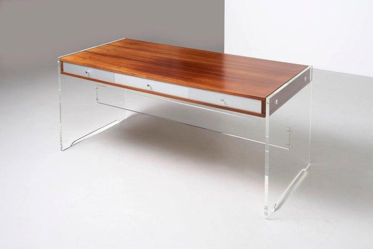 Rosewood Desk by Danish Designer Poul Nørreklit, 1970s For Sale 6