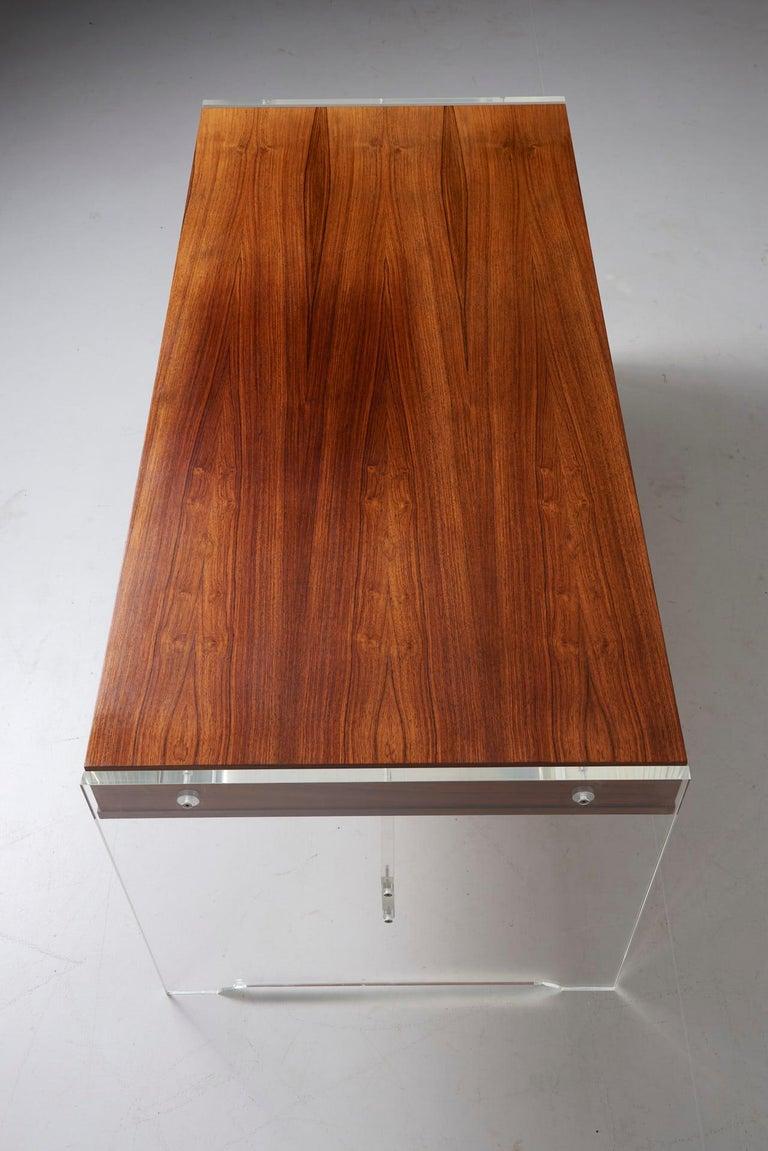 Rosewood Desk by Danish Designer Poul Nørreklit, 1970s For Sale 7