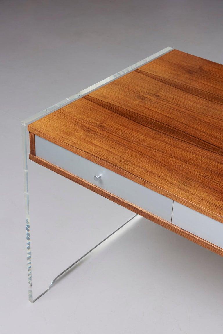 Rosewood Desk by Danish Designer Poul Nørreklit, 1970s For Sale 8