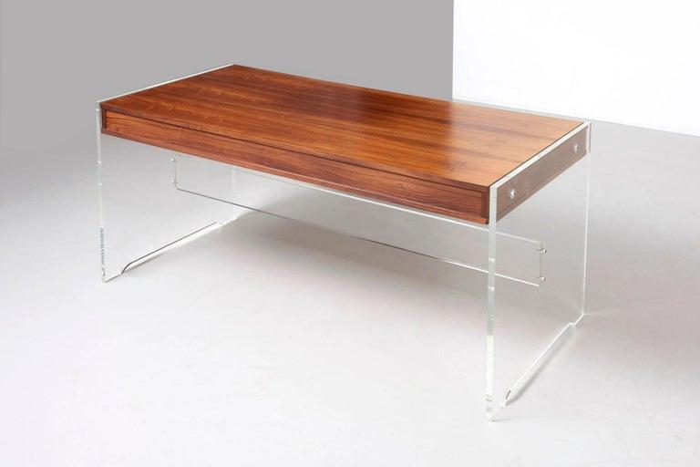 Rosewood Desk by Danish Designer Poul Nørreklit, 1970s For Sale 10