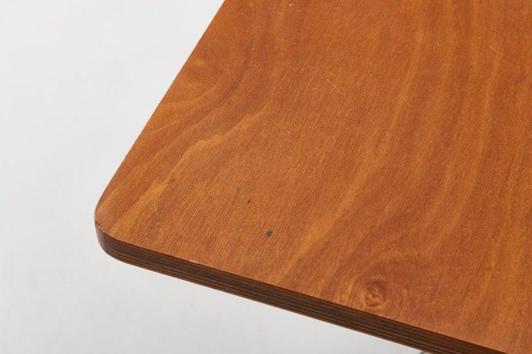 Walnut HBK table by Willy Van Der Meeren For Sale 2