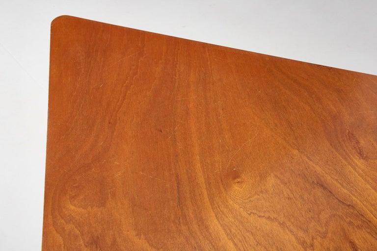 Walnut HBK table by Willy Van Der Meeren For Sale 3