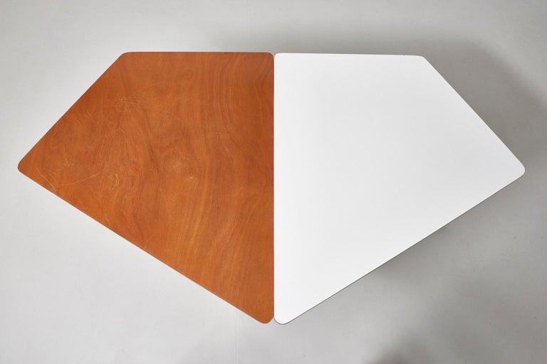 Walnut HBK table by Willy Van Der Meeren For Sale 5