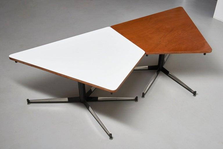 Walnut HBK table by Willy Van Der Meeren For Sale 8