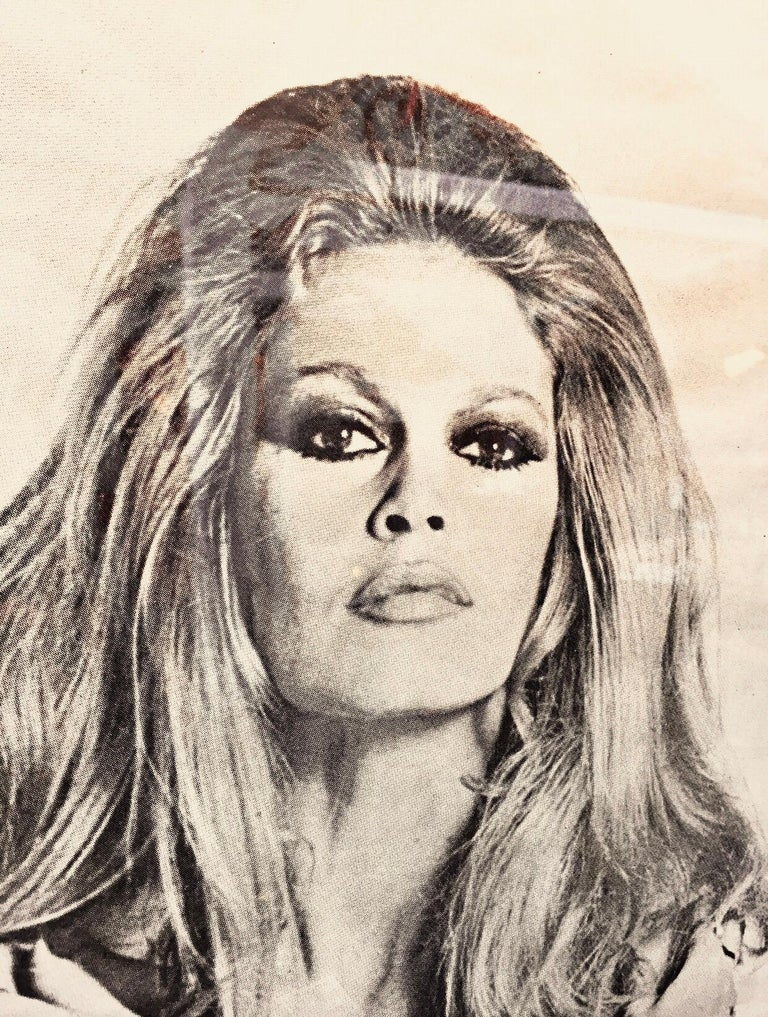 Modern Original Iconic And Rare Vintage Brigitte Bardot Poster from 1970 For Sale