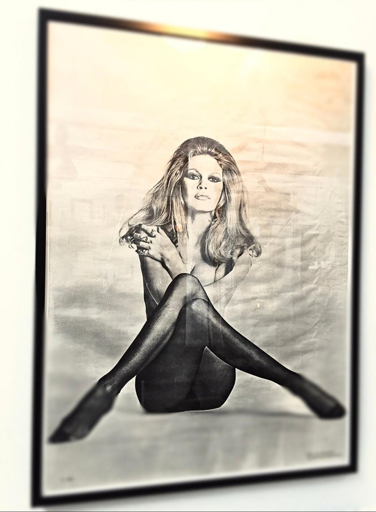 American Original Iconic And Rare Vintage Brigitte Bardot Poster from 1970 For Sale