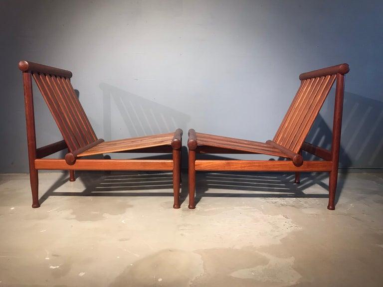 Danish 2 Vintage Teak Kai Lyngfeldt Larsen Easy Chairs Model 501 by Søborg Furniture For Sale
