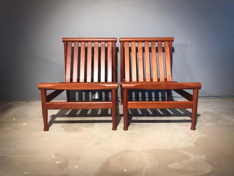 2 Vintage Teak Kai Lyngfeldt Larsen Easy Chairs Model 501 by Søborg Furniture In Excellent Condition For Sale In Søborg, DK