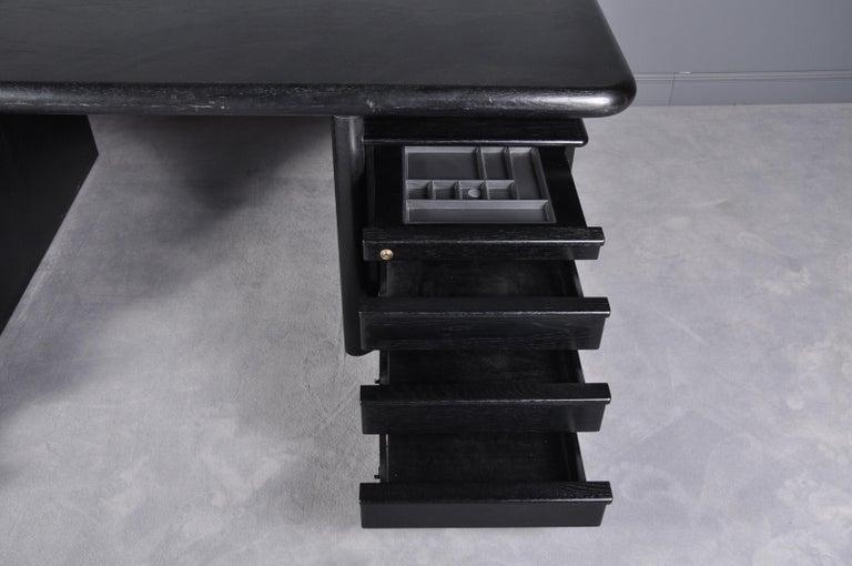 Black Oak Floating-Top Executive Desk For Sale 5
