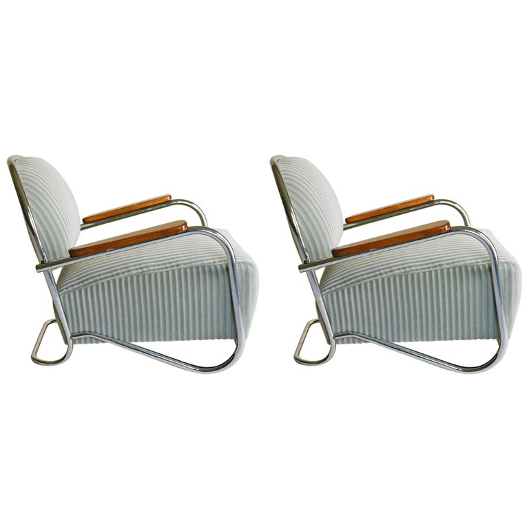 K.E.M. Weber, Pair of Lounge Chairs, 1934 For Sale