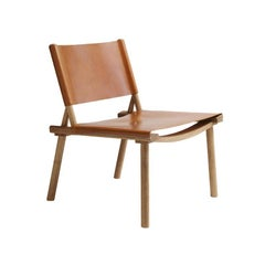 Nikari December Extra Large Chair, Oak with Leather