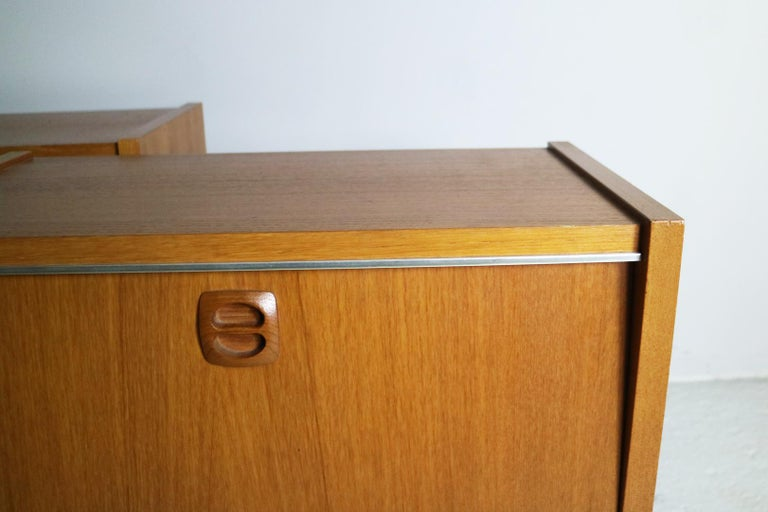 Plated Pair of 1960s Midcentury French Bed Side Cabinets For Sale