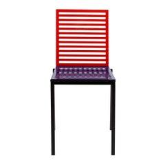 Contemporary Tanit Classic Chair in Bicolored Aluminum, Manhattan Version