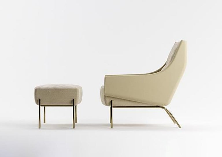 Price for Lounge only.  Vista lounge chair and ottoman resonate exactly as their title suggests, a place where you can reflect, contemplate and take learned perspective. The lounge chairs hugging arms define a sensual embrace whilst held aloof by