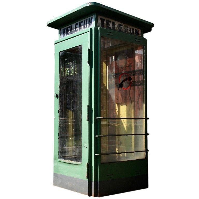 1960s Vintage Polish Telephone Booth