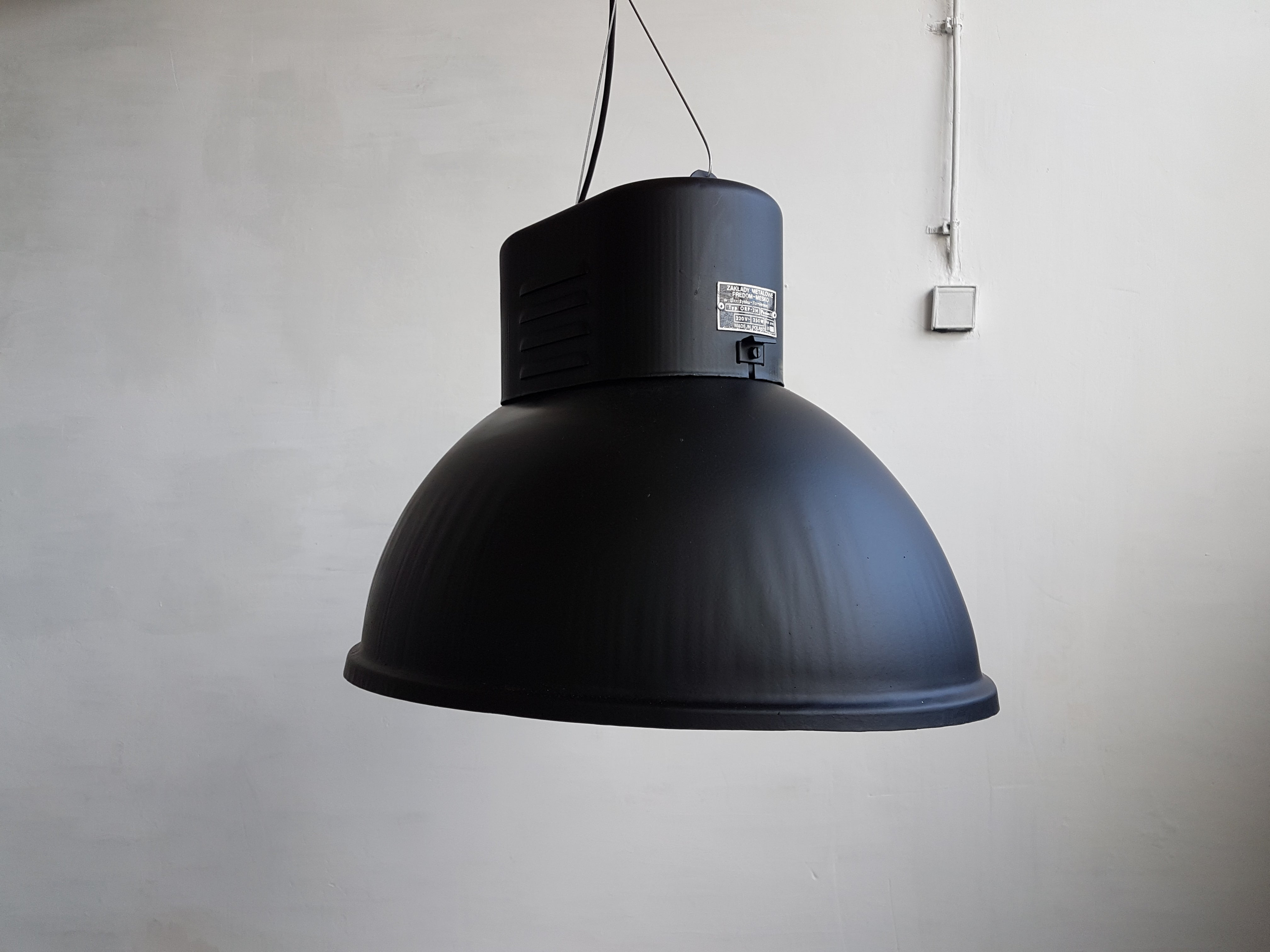 Vintage industrial factory lamp lamps from predom mesko s for