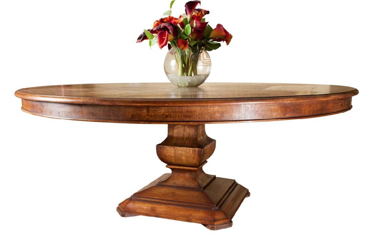 Handmade Circular Dining Table Superb Quality Made In The Uk By Garners