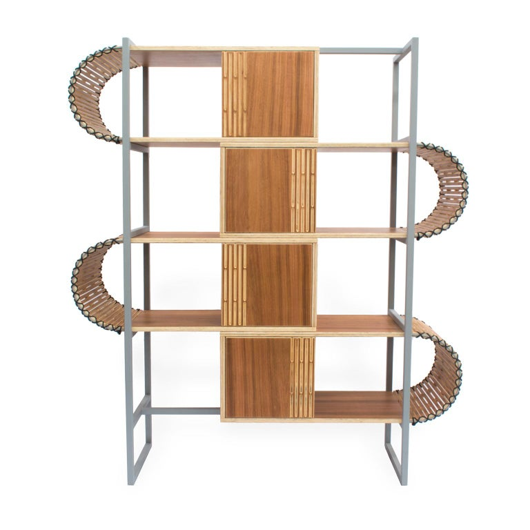 Contemporary Bookshelf, Ruptura Shelf, Brazilian Design For Sale