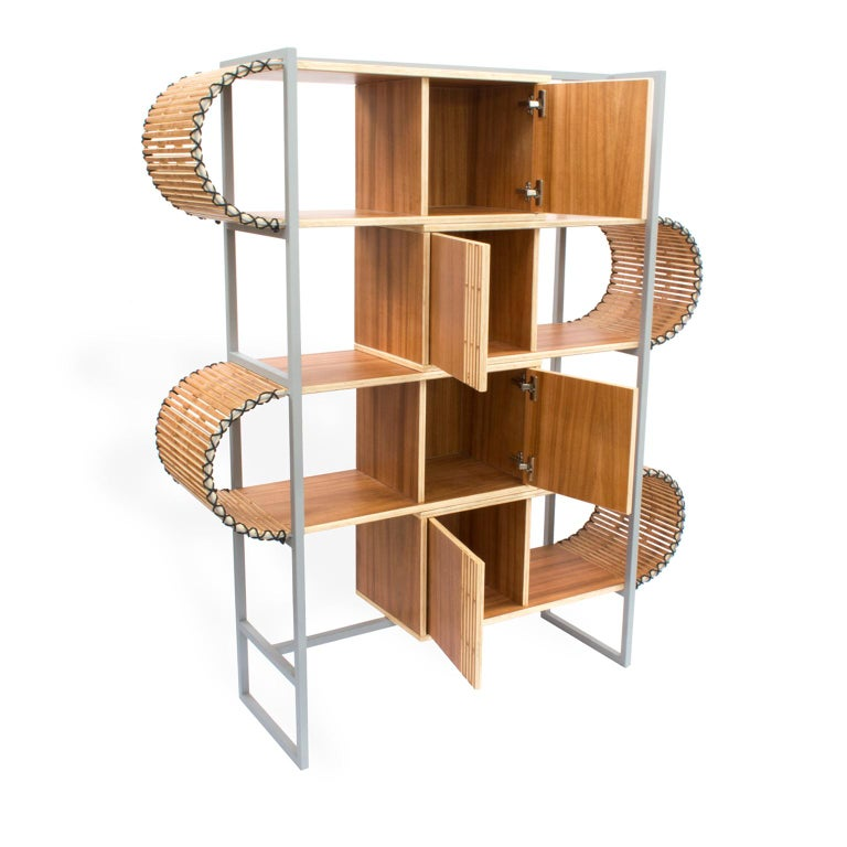Contemporary Bookshelf, Ruptura Shelf, Brazilian Design In New Condition For Sale In Sao Paulo, BR