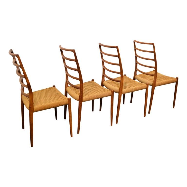 20th Century Niels O. Møller Teak Model 82 Dining Chairs, Set of Four For Sale