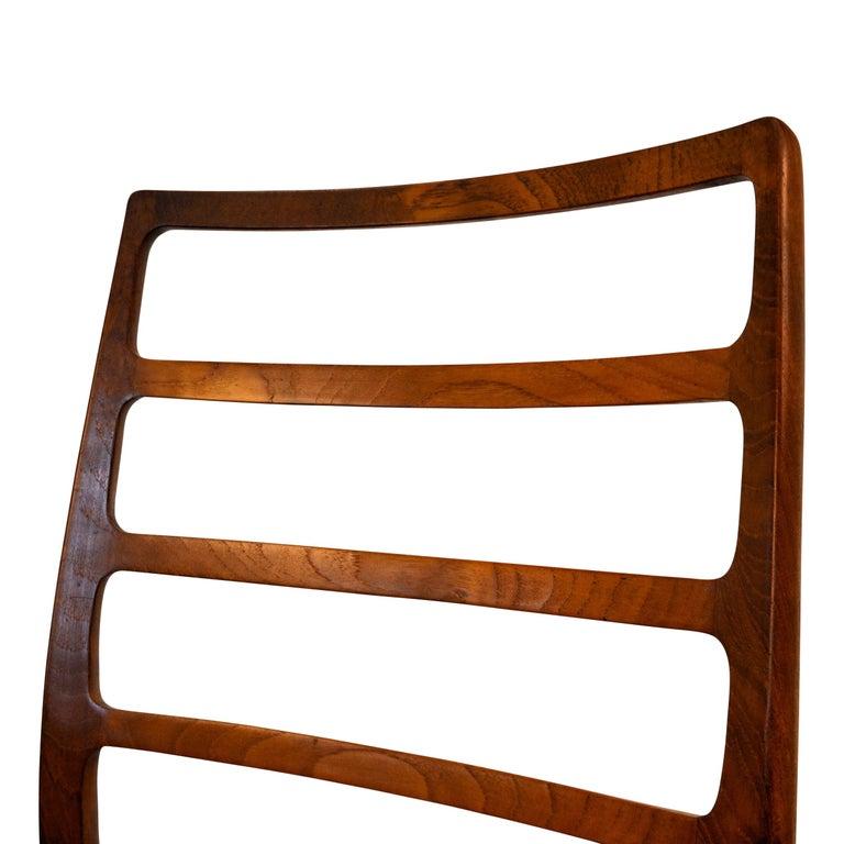 Niels O. Møller Teak Model 82 Dining Chairs, Set of Four For Sale 1