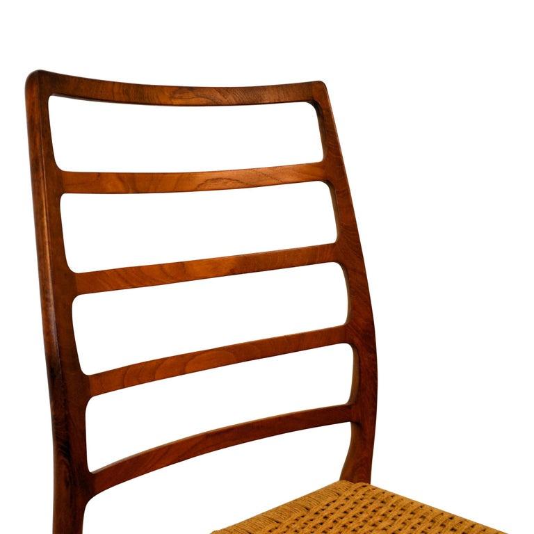 Niels O. Møller Teak Model 82 Dining Chairs, Set of Four For Sale 2