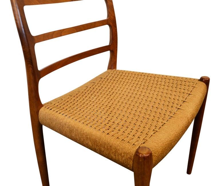 Niels O. Møller Teak Model 82 Dining Chairs, Set of Four For Sale 3