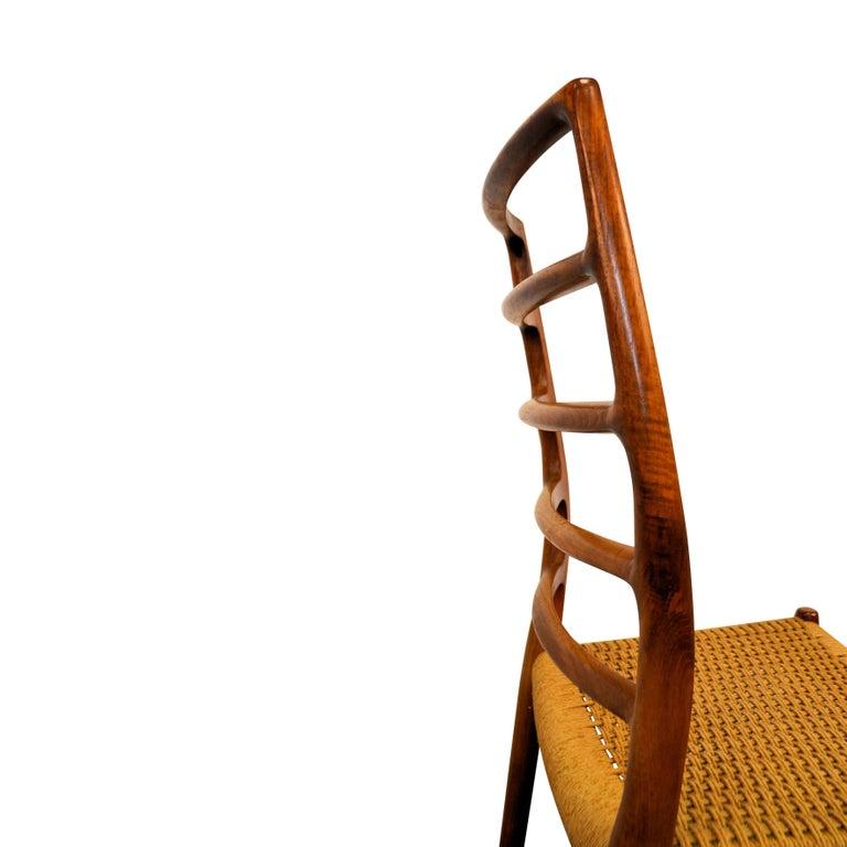 Niels O. Møller Teak Model 82 Dining Chairs, Set of Four For Sale 4