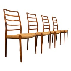 Niels O. Møller Teak Model 82 Dining Chairs, Set of Four