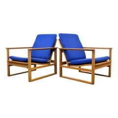 Børge Mogensen Oak Lounge Chairs Model 2256