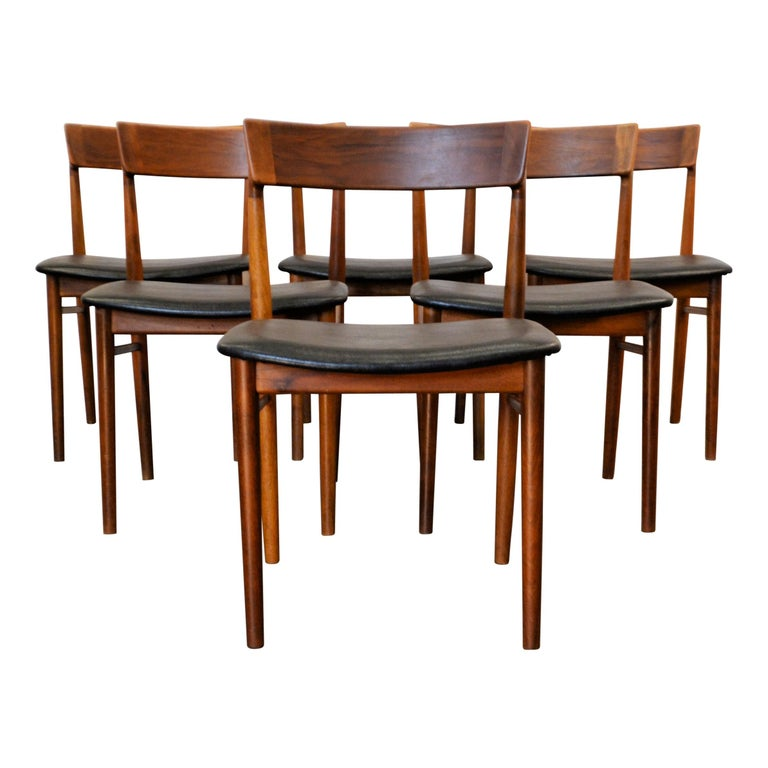 Vintage Henry Rosengren Rosewood Dining Chairs For Sale