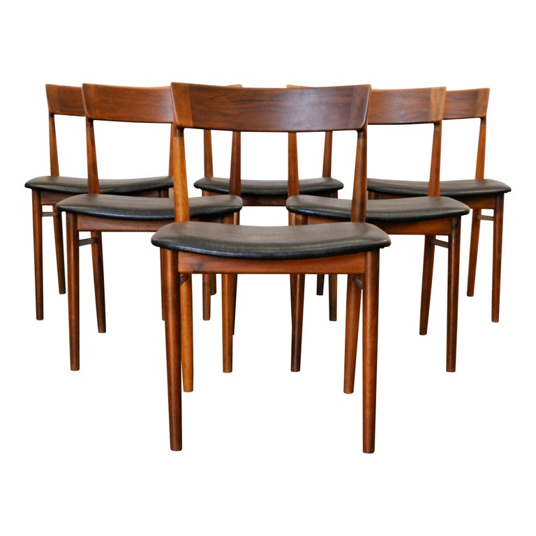 Mid-Century Modern Vintage Henry Rosengren Rosewood Dining Chairs For Sale
