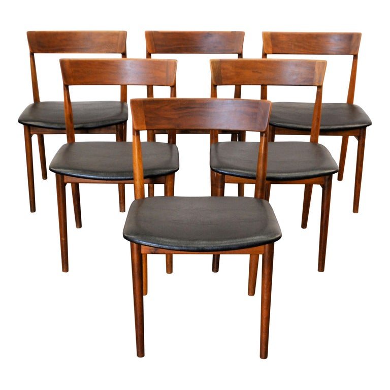 Vintage Henry Rosengren Rosewood Dining Chairs In Good Condition For Sale In Panningen, NL
