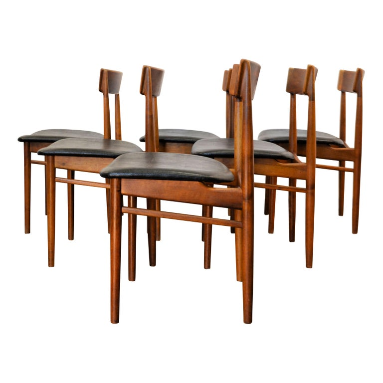 20th Century Vintage Henry Rosengren Rosewood Dining Chairs For Sale