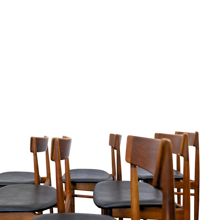 Vintage Henry Rosengren Rosewood Dining Chairs For Sale 1