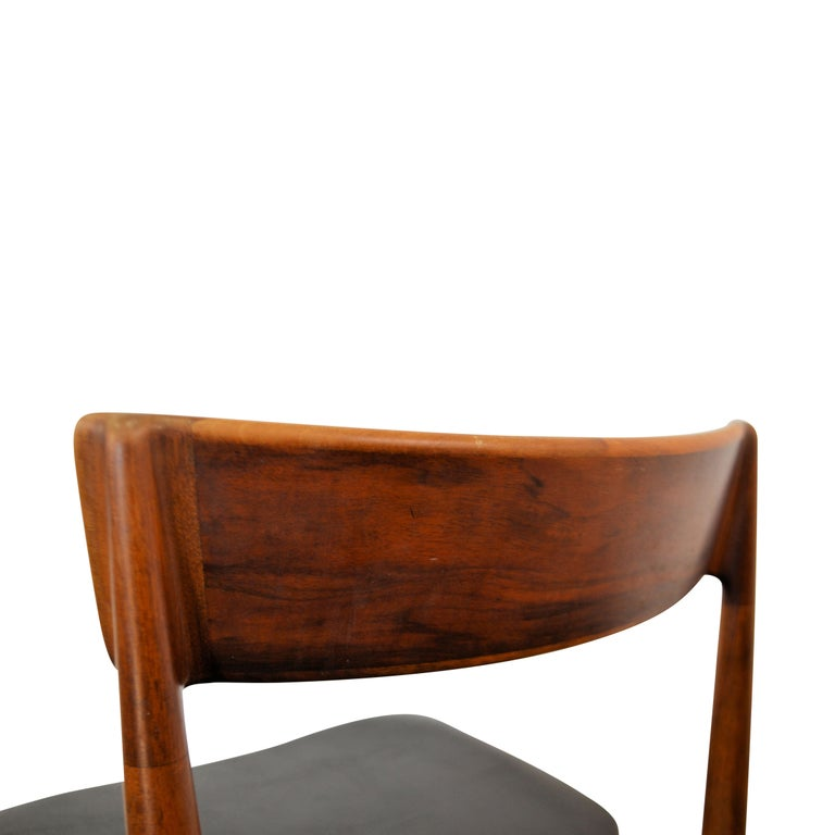 Vintage Henry Rosengren Rosewood Dining Chairs For Sale 4