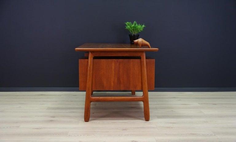 Omann Jun Writing Desk Classic Teak Vintage For Sale 4