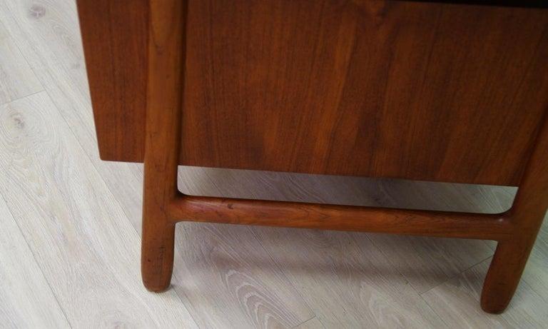 Omann Jun Writing Desk Classic Teak Vintage For Sale 5