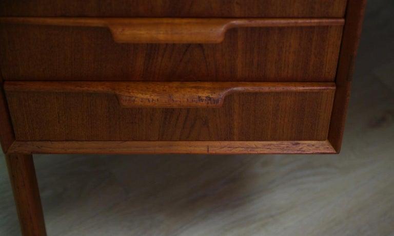 Omann Jun Writing Desk Classic Teak Vintage For Sale 10