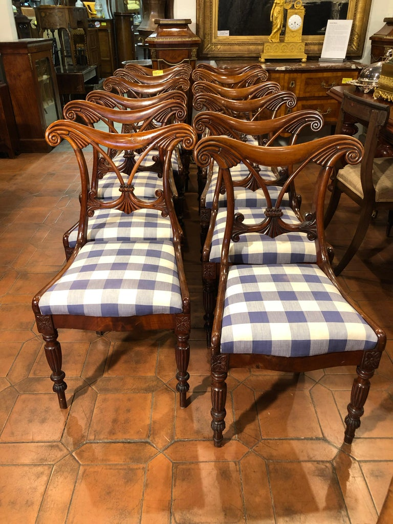 English 19th Century Regency Mahogany Chairs For Sale