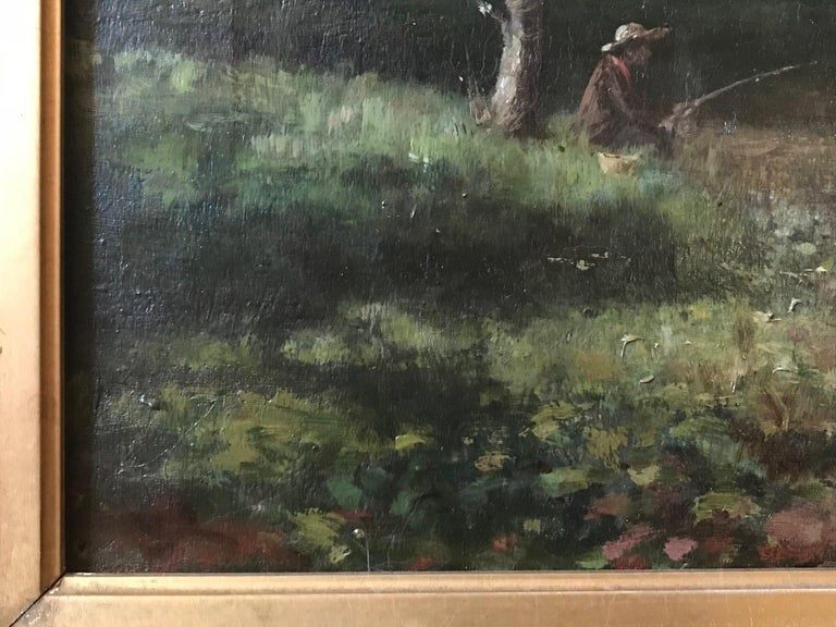 19th Century French Barbizon School Landscape Painting For Sale 1