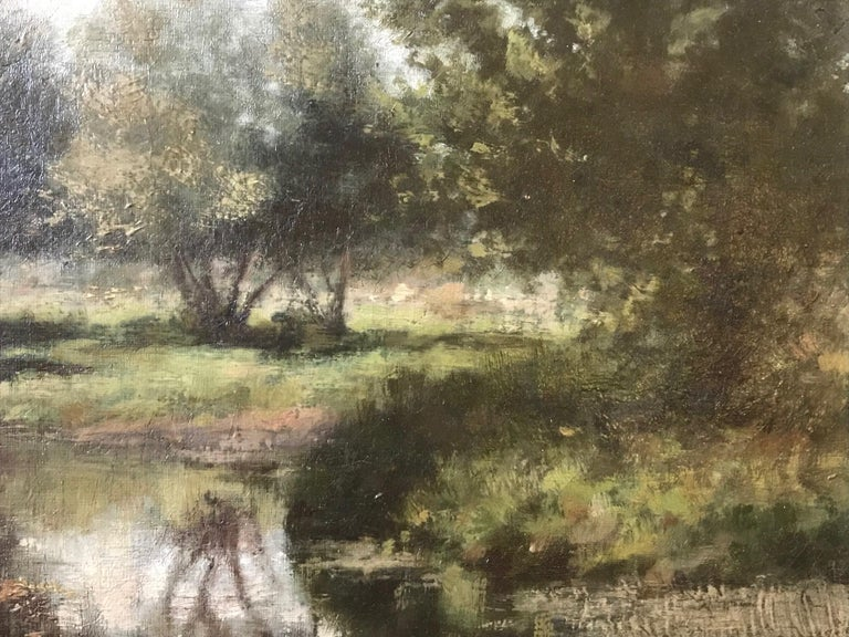 19th Century French Barbizon School Landscape Painting For Sale 3