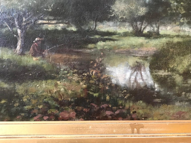 19th Century French Barbizon School Landscape Painting For Sale 6