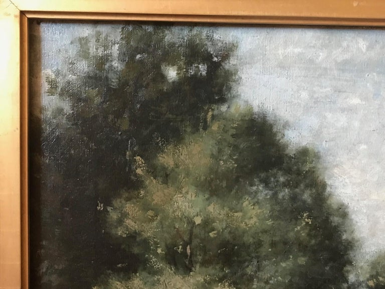 19th Century French Barbizon School Landscape Painting For Sale 5