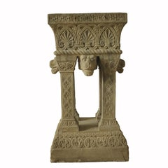 Cast Stone Fountain or Planter, Late 19th Century