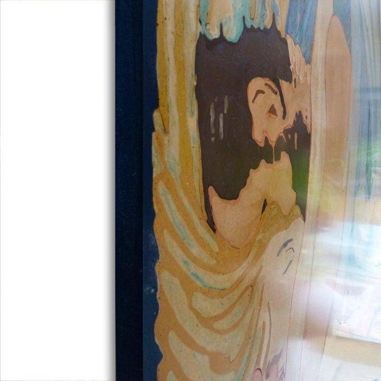 Italian Roller Artistic Wall Panel Scagliola Art Decoration For Sale