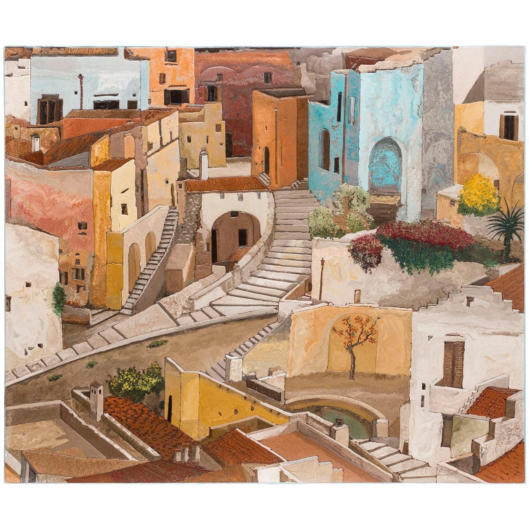 Matera Wall Panel Scagliola Art Decoration For Sale