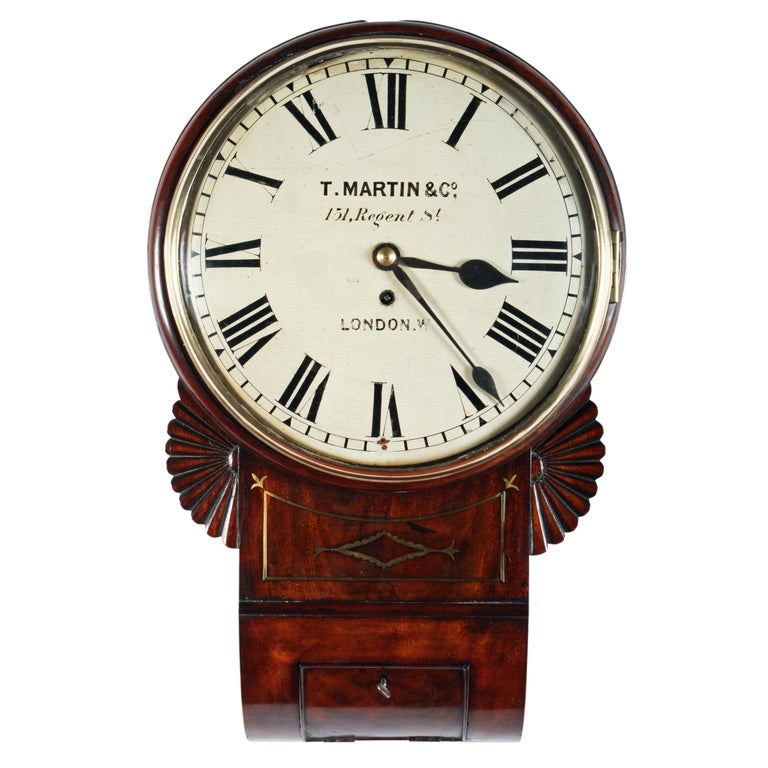 Regency Fusee Wall Clock For Sale At 1stdibs