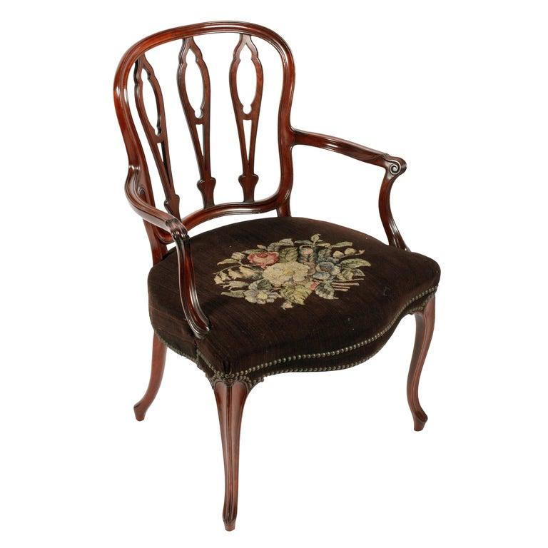 18th Century French Hepplewhite Armchair