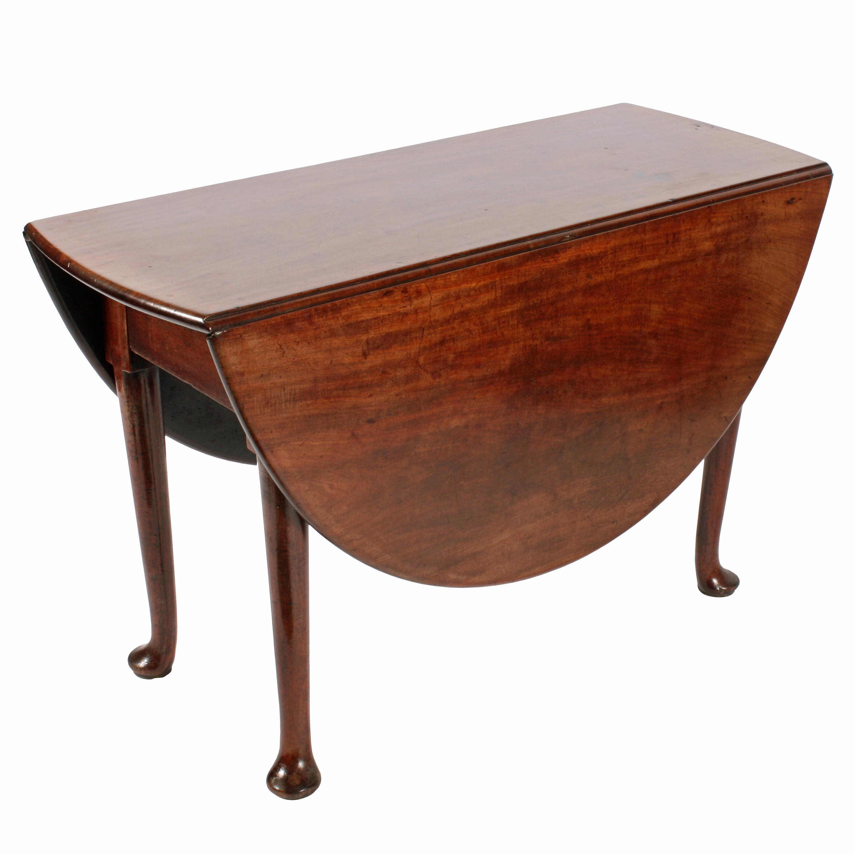 American Queen Anne Mahogany Oval Drop Leaf Table With Pad Feet Rh 1stdibs  Com 42 Drop Leaf Pedestal Table 42 Drop Leaf Pedestal Table